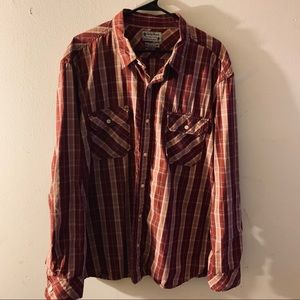 Lucky Brand LS Plaid Button Down Shirt Size XXL